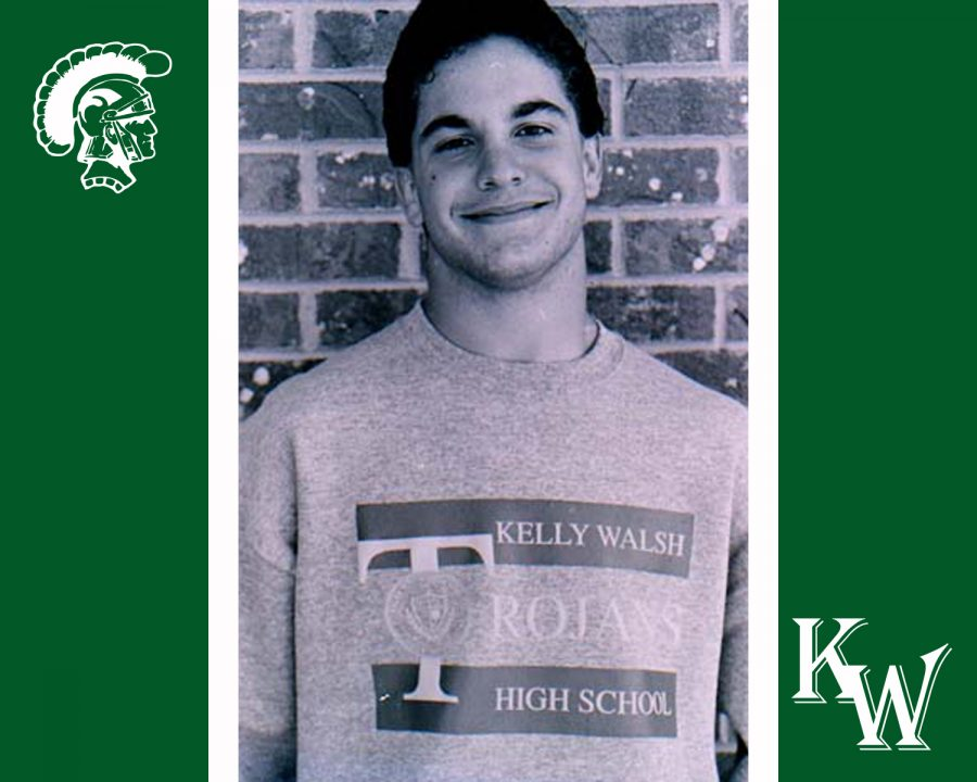 The next head principal of Kelly Walsh is a Class of '91 alum.  This photo was taken from the '91 Kelly Kall archives.